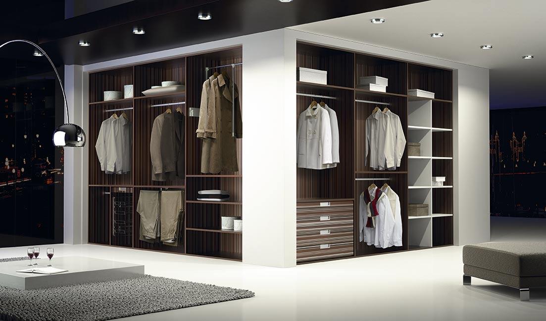 Interiores de armarios difasa espacios y armarios a medida - Papel pintado armario ...